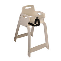 Koala Kare KB833-14-KD Sand Unassembled Recycled Plastic High Chair
