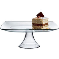 The Jay Companies 10 inch Square Glass Cake Stand Pedestal