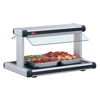 Hatco GR2BW-48 48 inch Glo-Ray White Granite Designer Buffet Warmer with Black Insets and Infinite Controls - 2040W