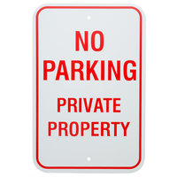 No Parking / Private Property Aluminum Composite Sign - 12 inch x 18 inch