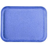 Carlisle 1410FG014 Customizable10 inch x 14 inch Glasteel Cobalt Blue Fiberglass Tray - 12/Case
