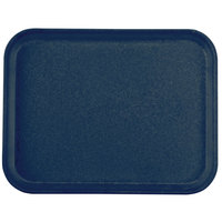 Carlisle 1410FG050 Customizable10 inch x 14 inch Glasteel Sapphire Blue Fiberglass Tray - 12/Case