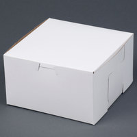 Southern Champion 921 7 inch x 7 inch x 4 inch White Cake / Bakery Box - 250/Bundle