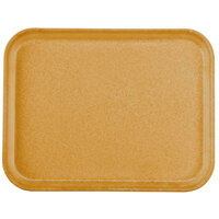 Carlisle 1410FG023 Customizable10 inch x 14 inch Glasteel Gold Fiberglass Tray - 12/Case
