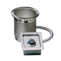 Wells SS4TDUC 4 Qt. Round Drop In Soup Well with Drain and Cord - Top Mount, Thermostatic Control