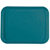 Carlisle 1410FG011 Customizable10 inch x 14 inch Glasteel Turquoise Fiberglass Tray - 12 / Case
