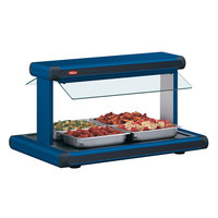 Hatco GR2BW-24 24 inch Glo-Ray Navy Blue Designer Buffet Warmer with Black Insets and Infinite Controls - 970W