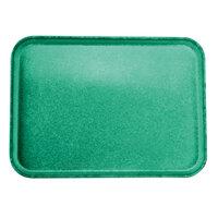Carlisle 2216FGQ053 Customizable 16 inch x 22 inch Glasteel Jade Fiberglass Tray - 6/Case