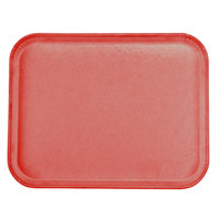 Carlisle 1814FG017 Customizable 14 inch x 18 inch Glasteel Red Fiberglass Tray - 12 / Case