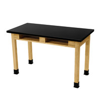 National Public Seating SLT2460-BC 24 inch x 60 inch Science Lab Table with Built-In Book Compartments - 30 inch Height