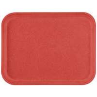 "Carlisle 1612FG020 Customizable 12"" x 16"" Glasteel Coral Fiberglass Tray - 12/Case"