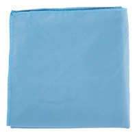 15 inch x 15 inch Blue Microfiber Glass / Fine Polishing Cloth - 12 / Pack