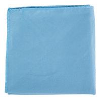 15 inch x 15 inch Blue Microfiber Glass / Fine Polishing Cloth - 12/Pack