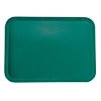 Carlisle 2216FGQ010 Customizable 16 inch x 22 inch Glasteel Forest Green Fiberglass Tray - 6/Case
