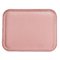 Carlisle 1814FG066 Customizable 14 inch x 18 inch Glasteel Mauve Fiberglass Tray - 12 / Case