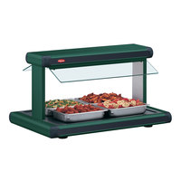 Hatco GR2BW-24 24 inch Glo-Ray Hunter Green Designer Buffet Warmer with Black Insets and Infinite Controls - 970W