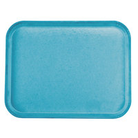 Carlisle 1814FG013 Customizable 14 inch x 18 inch Glasteel Ice Blue Fiberglass Tray - 12 / Case