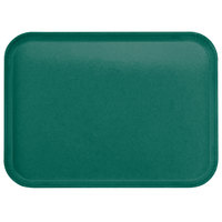 Carlisle 2015FG010 Customizable 15 inch x 20 inch Glasteel Forest Green Fiberglass Tray - 12/Case