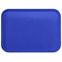 Carlisle 2216FGQ014 Customizable 16 inch x 22 inch Glasteel Cobalt Blue Fiberglass Tray - 6/Case