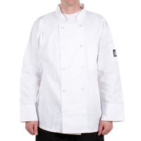Chef Revival J100-3X Size 56 (3X) Customizable Double Breasted Chef Coat - Poly Cotton