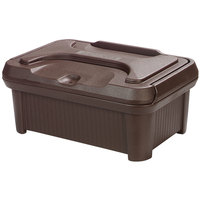 Carlisle XT160001 Cateraide Slide N Seal 20 inch x 12 inch x 6 inch Brown Insulated Food Pan Carrier and Sliding Lid Set