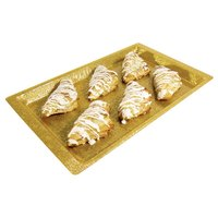 20 inch x 12 inch Gold Acrylic Display Tray with Snake Skin Design