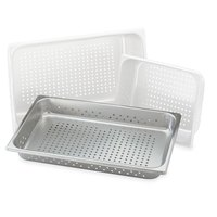 Vollrath 30043 Super Pan V Full Size Anti-Jam Stainless Steel Perforated Steam Table / Hotel Pan - 4 inch Deep