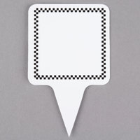 Square Write On Deli Sign Spear with Black Checkered Border