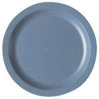 Cambro 725CWNR401 Slate Blue Camwear 7 1/4 inch Narrow Rim Plate - Polycarbonate 48/Case