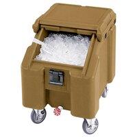 Cambro ICS100L131 Dark Brown Sliding Lid Portable Ice Bin - 100 lb. Capacity