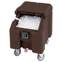 Cambro ICS100L131 Dark Brown Sliding Lid Portable Ice Bin - 100 lb. Capacity