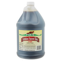 Fox's 1 Gallon Sweetened Iced Tea Concentrate with Lemon Flavor   - 4/Case