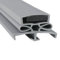 Delfield 1701341 Equivalent Magnetic Door Gasket - 23 inch x 59 3/8 inch