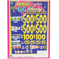 Bright Lights, Big Money 5 Window - Pull Tab Tickets - 3996 Tickets Per Deal - Total Payout: $2935