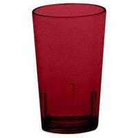 Cambro D8156 Ruby Red Del Mar Customizable Plastic Tumbler 8 oz. - 36/Case