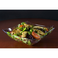 Fineline Wavetrends 164-CL Clear Plastic Serving Bowl 64 oz. - 50 / Case