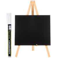 American Metalcraft MNIBKR1 Plain Wood 6 inch x 10 inch Mini Tabletop Chalkboard
