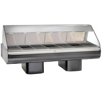 Alto-Shaam PD2SYS-96 BK Black Heated Display Case with Curved Glass and Pedestal Base - Full Service 96 inch