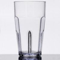 GET 9921-1-CL Bahama 20 oz. Clear Break-Resistant Plastic Pebbled Tumbler - 72/Case