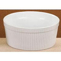 CAC SFB-48 White 1.5 Qt. China Fluted Souffle Bowl 24/Case