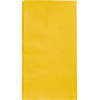 Choice 15 inch x 17 inch Sunny Yellow 2-Ply Paper Dinner Napkin   - 125/Pack