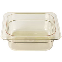 Cambro 62HP150 H-Pan 1/6 Size Amber High Heat Food Pan - 2 1/2 inch Deep