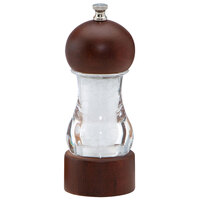 Chef Specialties 29184 Professional Series 6 inch Vanguard Acrylic and Walnut Salt Mill