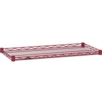 Metro HDM1436-DF Super Erecta Flame Red Drop Mat Wire Shelf - 14 inch x 36 inch