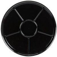 WNA Comet A926BL Checkmate 16 inch Round 6 Compartment Catering Tray - Black 25 / Case
