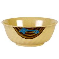 Wei 32 oz. Round Melamine Swirl Bowl - 12/Case