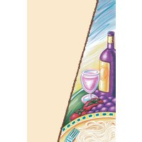 8 1/2 inch x 14 inch Menu Paper Cover - Pasta Themed Wine Design - 100/Pack