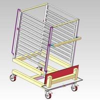 Alto-Shaam UN-27964 Roll-In Pan Cart Trolley for 10-20esG Models