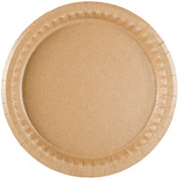 9 inch Coated Kraft Paper Plate - 400 / Case