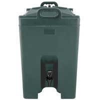 Carlisle XT1000008 Cateraide Forest Green 10 Gallon Insulated Beverage Dispenser